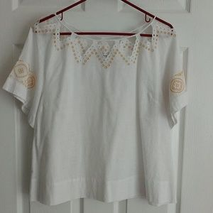 Madewell white blouse, sz Large